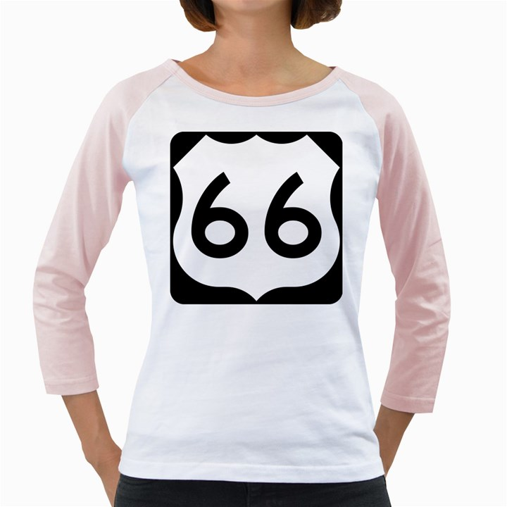 U.S. Route 66 Girly Raglans