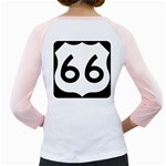 U.S. Route 66 Girly Raglans Back