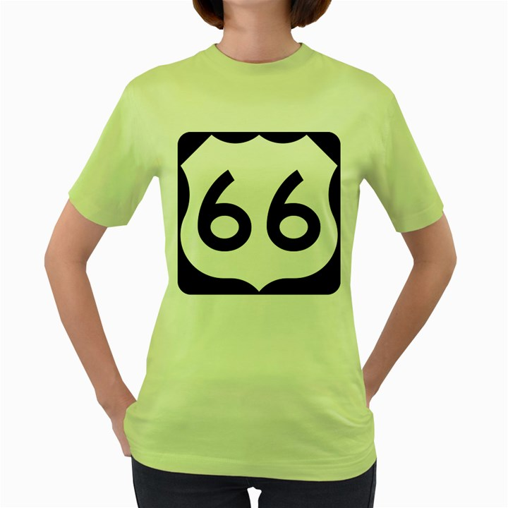 U.S. Route 66 Women s Green T-Shirt