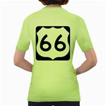 U.S. Route 66 Women s Green T-Shirt Back
