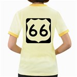 U.S. Route 66 Women s Fitted Ringer T-Shirts Back
