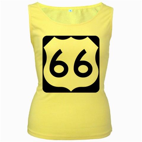 U.S. Route 66 Women s Yellow Tank Top