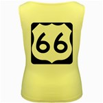 U.S. Route 66 Women s Yellow Tank Top Back
