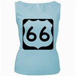 U.S. Route 66 Women s Baby Blue Tank Top Front