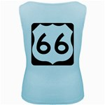 U.S. Route 66 Women s Baby Blue Tank Top Back
