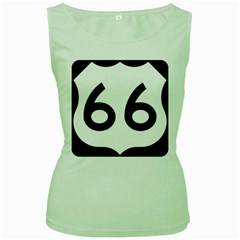 U.S. Route 66 Women s Green Tank Top