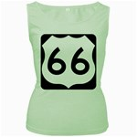 U.S. Route 66 Women s Green Tank Top Front