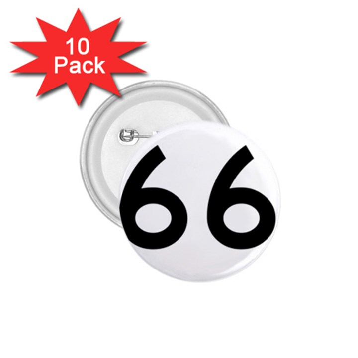 U.S. Route 66 1.75  Buttons (10 pack)