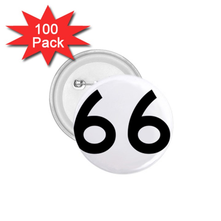 U.S. Route 66 1.75  Buttons (100 pack)
