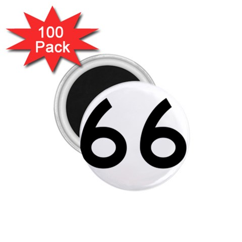 U.S. Route 66 1.75  Magnets (100 pack)