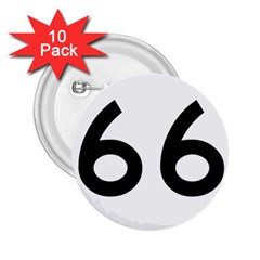 U S  Route 66 2 25  Buttons (10 Pack)