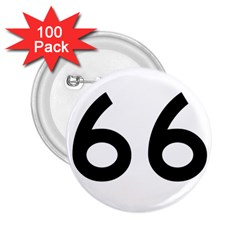 U S  Route 66 2 25  Buttons (100 Pack)