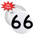 U.S. Route 66 2.25  Buttons (100 pack)  Front