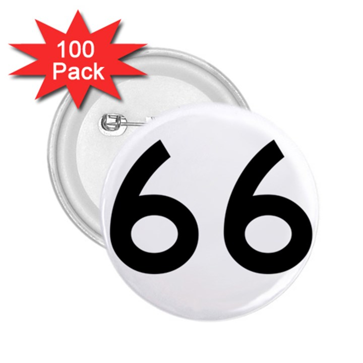 U.S. Route 66 2.25  Buttons (100 pack)