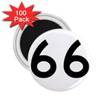U.S. Route 66 2.25  Magnets (100 pack)  Front