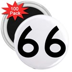 U.S. Route 66 3  Magnets (100 pack) Front