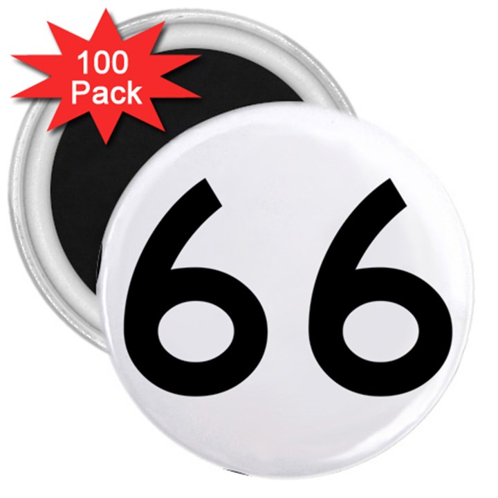 U.S. Route 66 3  Magnets (100 pack)