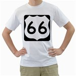 U.S. Route 66 Men s T-Shirt (White) (Two Sided) Front