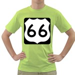 U.S. Route 66 Green T-Shirt Front