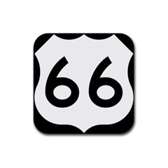 U.S. Route 66 Rubber Square Coaster (4 pack)