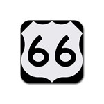 U.S. Route 66 Rubber Square Coaster (4 pack)  Front