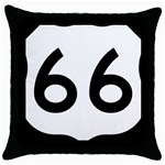 U.S. Route 66 Throw Pillow Case (Black) Front