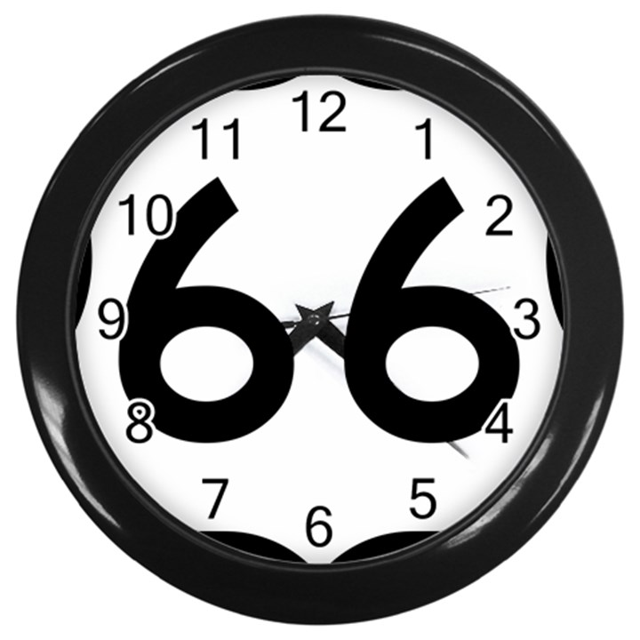 U.S. Route 66 Wall Clocks (Black)