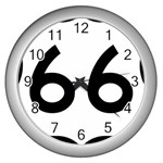 U.S. Route 66 Wall Clocks (Silver)  Front