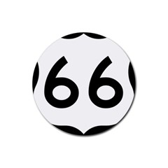 U S  Route 66 Rubber Round Coaster (4 Pack)