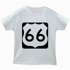 U.S. Route 66 Kids White T-Shirts