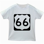 U.S. Route 66 Kids White T-Shirts Front
