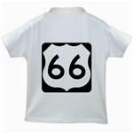 U.S. Route 66 Kids White T-Shirts Back