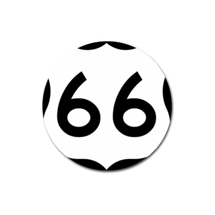 U.S. Route 66 Magnet 3  (Round)