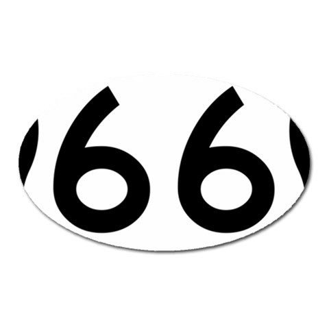 U.S. Route 66 Oval Magnet