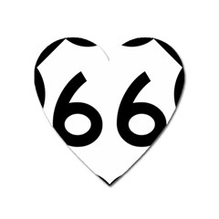 U S  Route 66 Heart Magnet