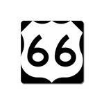 U.S. Route 66 Square Magnet Front