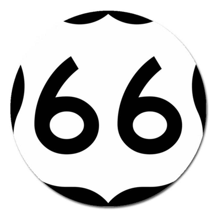 U.S. Route 66 Magnet 5  (Round)