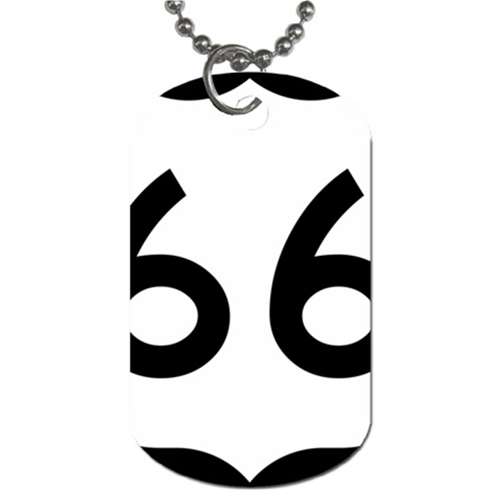 U.S. Route 66 Dog Tag (One Side)