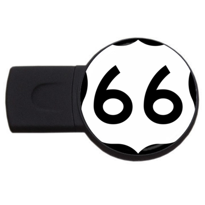 U.S. Route 66 USB Flash Drive Round (1 GB)
