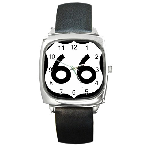 U.S. Route 66 Square Metal Watch