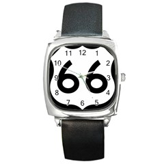 U S  Route 66 Square Metal Watch