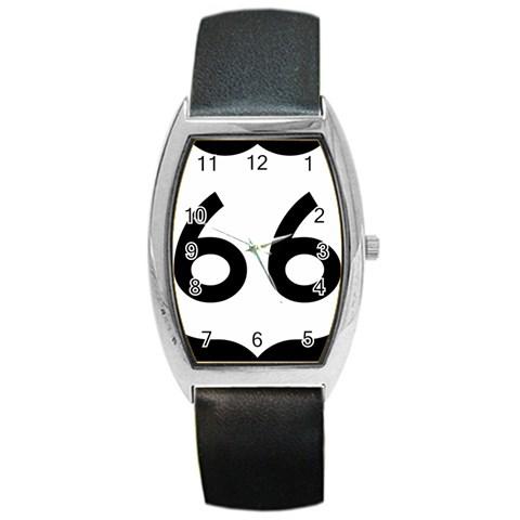 U.S. Route 66 Barrel Style Metal Watch