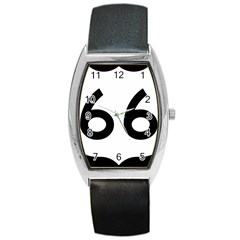 U S  Route 66 Barrel Style Metal Watch