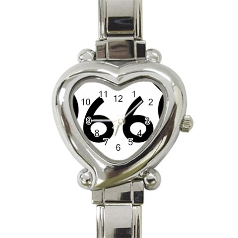 U.S. Route 66 Heart Italian Charm Watch