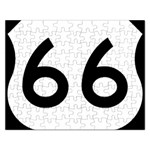 U.S. Route 66 Rectangular Jigsaw Puzzl Front
