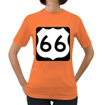 U.S. Route 66 Women s Dark T-Shirt Front