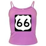 U.S. Route 66 Dark Spaghetti Tank Front