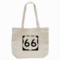 U S  Route 66 Tote Bag (cream)