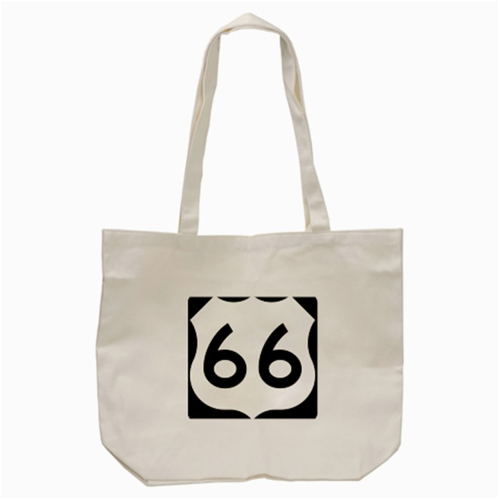 U.S. Route 66 Tote Bag (Cream)