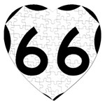 U.S. Route 66 Jigsaw Puzzle (Heart) Front